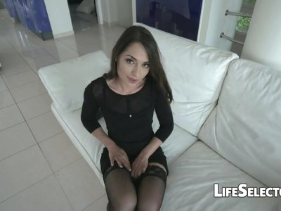 Cute brunette enjoys being fucked in the ass - Nomi Melon