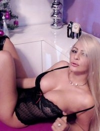 Jessy Jo aka Jessy Adams in a black teddy