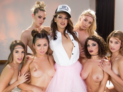 Dripping Hot Lesbian Orgy with Sara Luvv - Faces of Alice